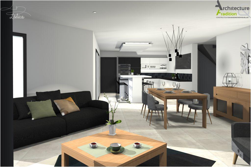 Cool maison plain pied interieur pictures best image for Constructeur maison contemporaine 08