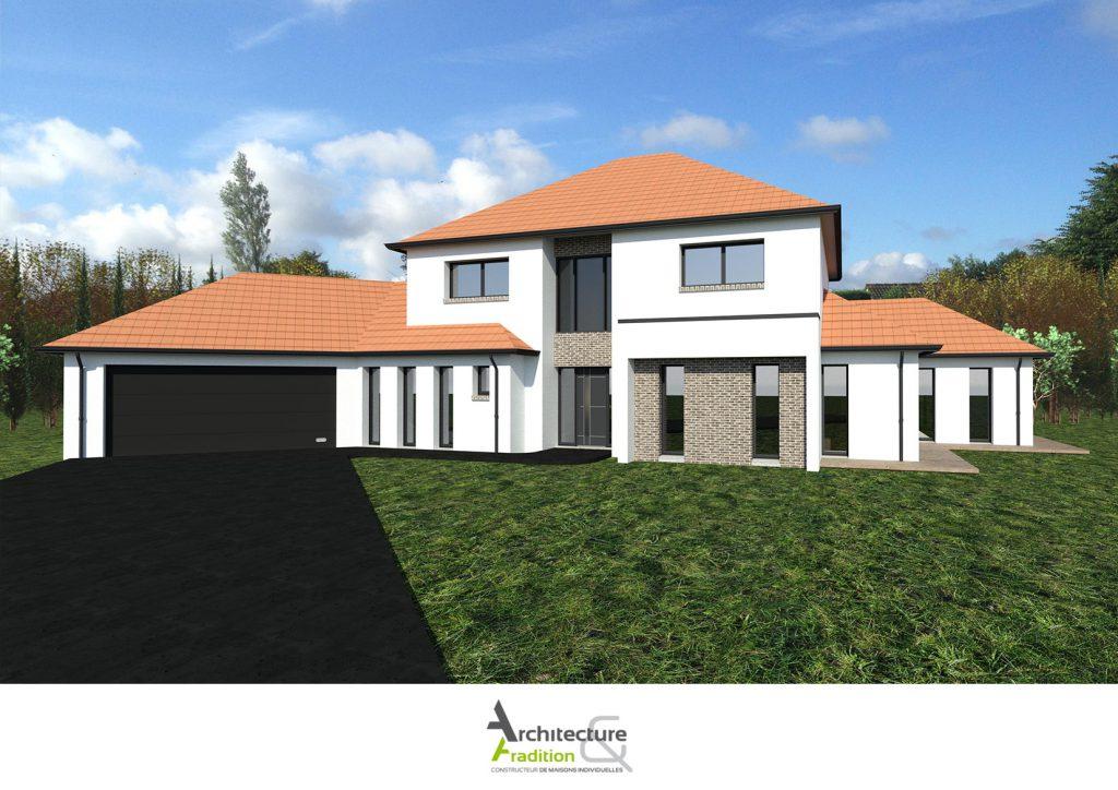 maisons 4 pans architecture et tradition constructeur. Black Bedroom Furniture Sets. Home Design Ideas