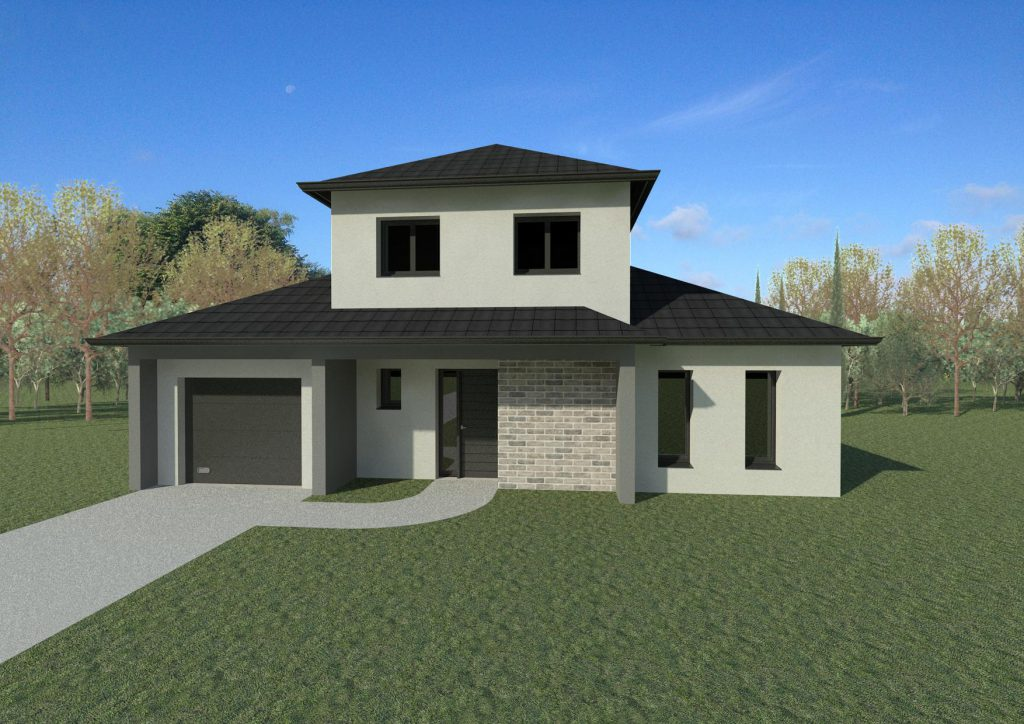 Maisons 4 pans architecture et tradition constructeur for Constructeur maison individuelle architecte