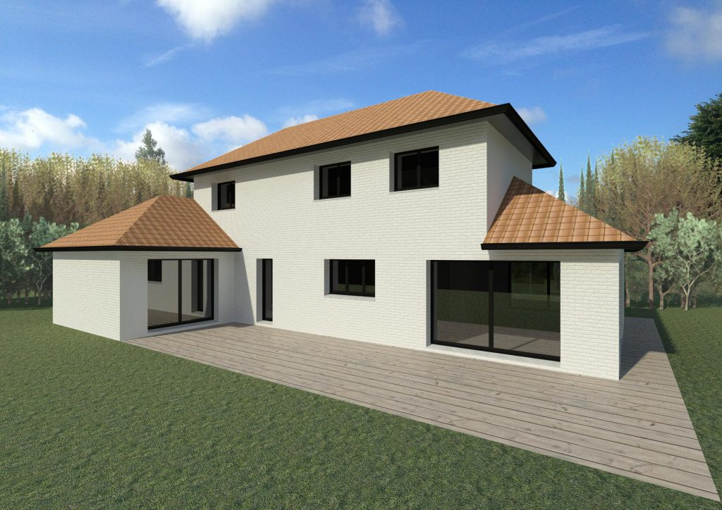 Maisons 4 pans architecture et tradition constructeur for Constructeurs maisons individuelles