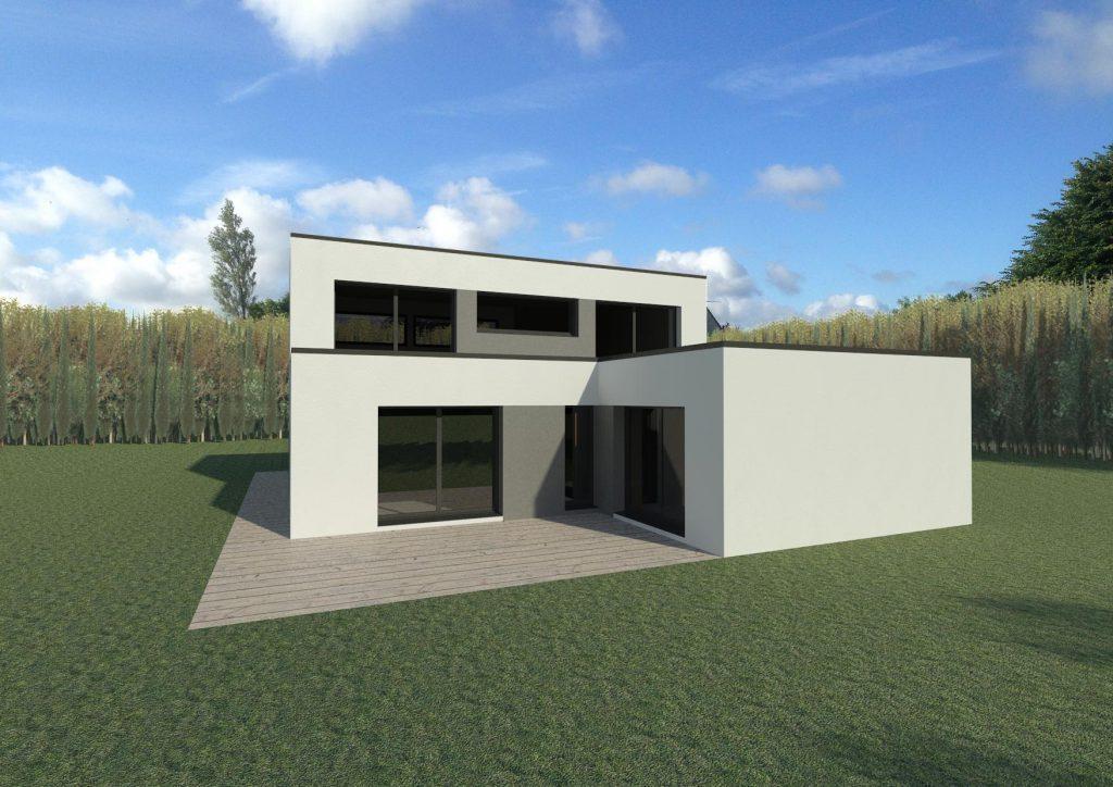 Maisons cubiques architecture et tradition for Constructeur maison individuelle architecte